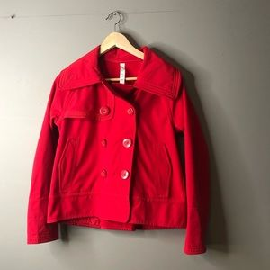 Lululemon coco soft shell red size 6 button jacket